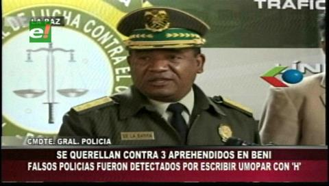 Policía presentará una querella criminal contra falsos agentes de Umopar