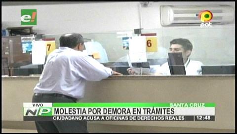 Ciudadano denuncia a oficinas de Derechos Reales por demora en trámites