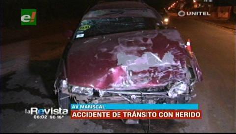 Choque de dos vehículos deja un herido entre el cuarto y quinto anillo