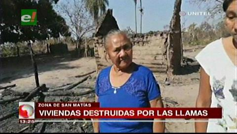 Dos viviendas ardieron por incendio en San Matías