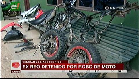 Ex reo es detenido por robo de una motocicleta