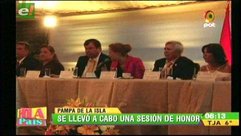 Municipio cruceño destaca crecimiento y obras en los 57 aniversario del Distrito 6