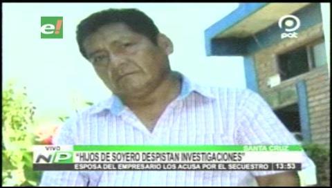 Acusan a hijos del soyero desaparecido de desviar las investigaciones