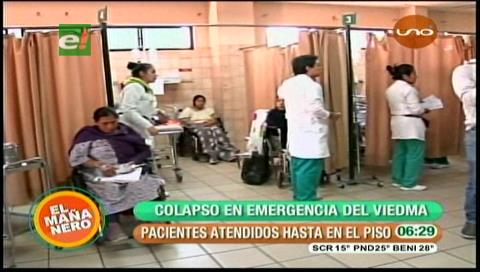 Cochabamba: Emergencias colapsa en el hospital Viedma