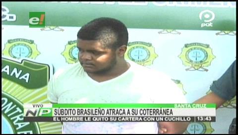 Policía detiene a brasileño atracador