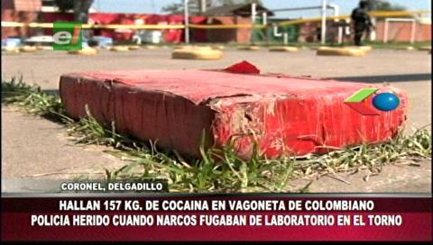Santa Cruz: Felcn incautó 157 kilogramos de cocaína