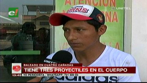 Sujeto es baleado en Cuatro Cañadas
