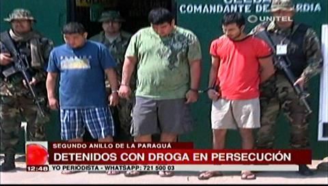 Portaban droga: Presentan a sujetos que se enfrentaron a tiros con la Policía