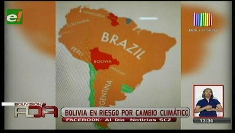 Estudio revela que Bolivia está en riesgo ante el cambio climático