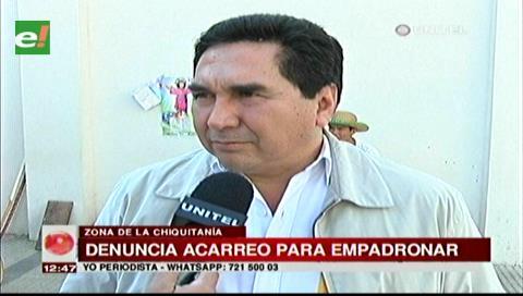 Mancomunidad Chiquitana denuncia acarreo para el empadronamiento