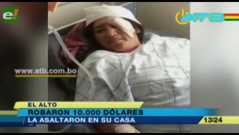 Golpean y roban $us 10 mil a una mujer
