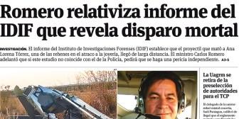 Portadas de periódicos de Bolivia del jueves 17 de agosto de 2017