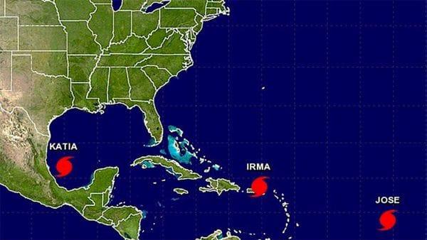 Ahora hay tres huracanes para preocuparse en el Caribe