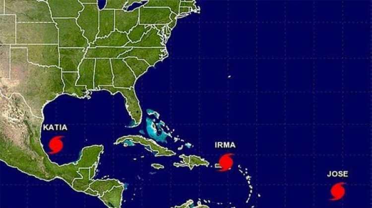 Los huracanes Irma, Katia y José