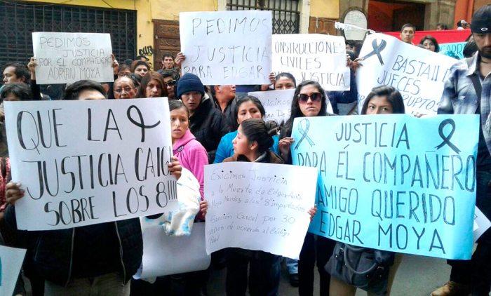 FAMILIARES Y AMIGOS DE MOYA EXIGEN JUSTICIA.