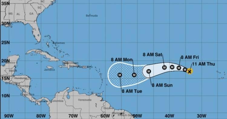 Pronóstico del Huracán Irma. Boletín del estadounidense Centro Nacional de Huracanes (NHC) a las 11 am del jueves 31 de agosto