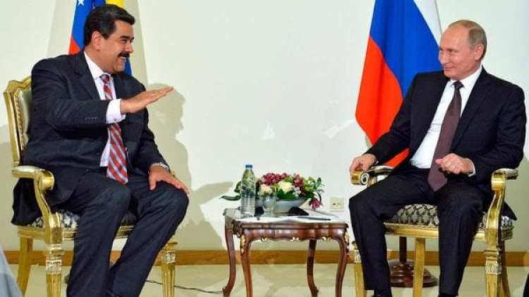 Nicolás Maduro y Vladimir Putín (AP)