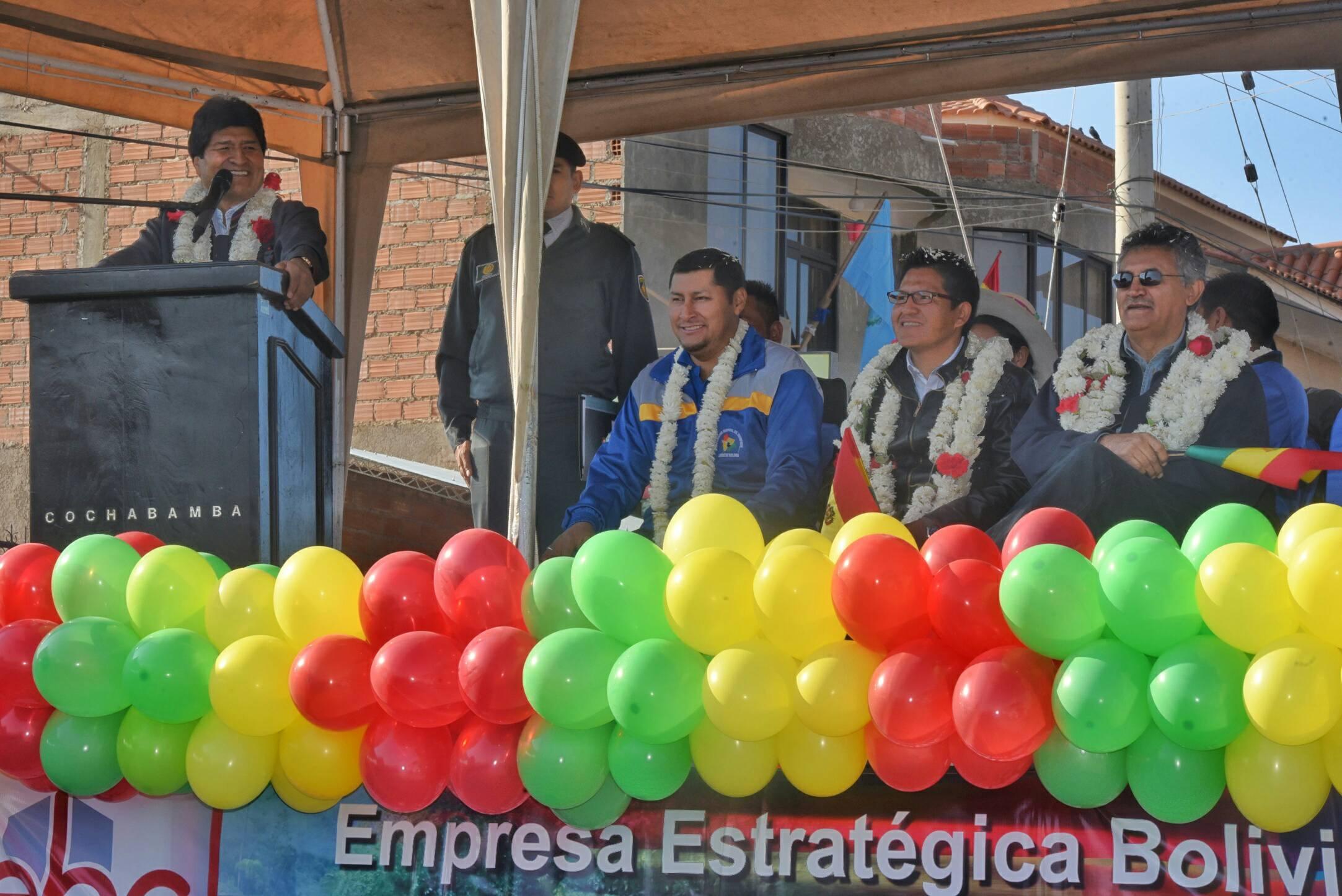 Bolivia inaugurará una planta productora de fertilizante de urea