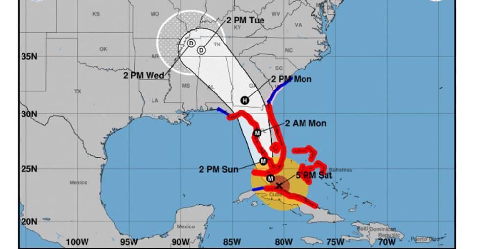 La trayectoria de Irma en Cuba y Estados Unidos