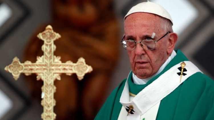 El papa Francisco durante una misa que ofició en Cartagena. (Reuters)