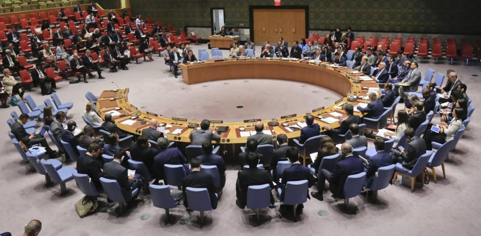 Sesión del Consejo de Seguridad de las Naciones Unidas