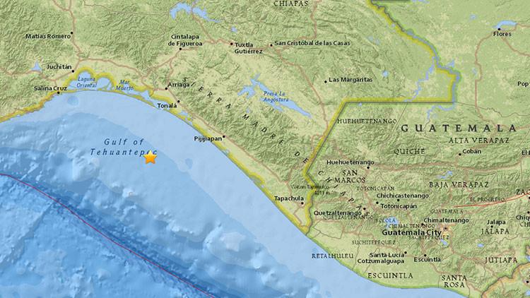 Un sismo de magnitud 5,1 sacude el golfo de Tehuantepec en México