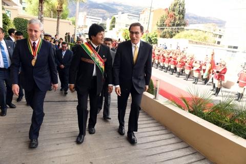 Vicepresidente peruano elogia primera planta petroquímica boliviana — Bolivia