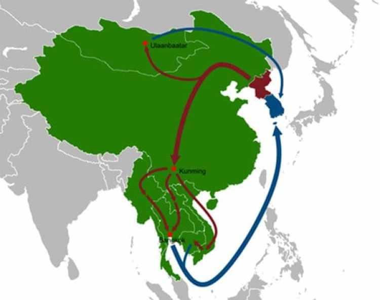 Las rutas más transitadas de los desertores norcoreanos a Corea del Sur
