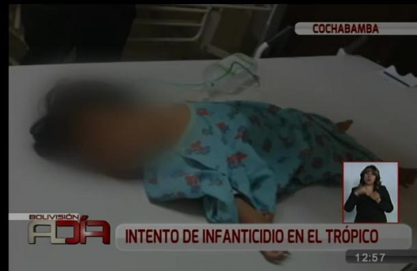 Niña que fue lanzada desde un primer piso por su padre tiene grave lesión en el craneo