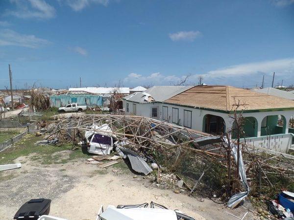 El huracán Irma devastó Barbuda