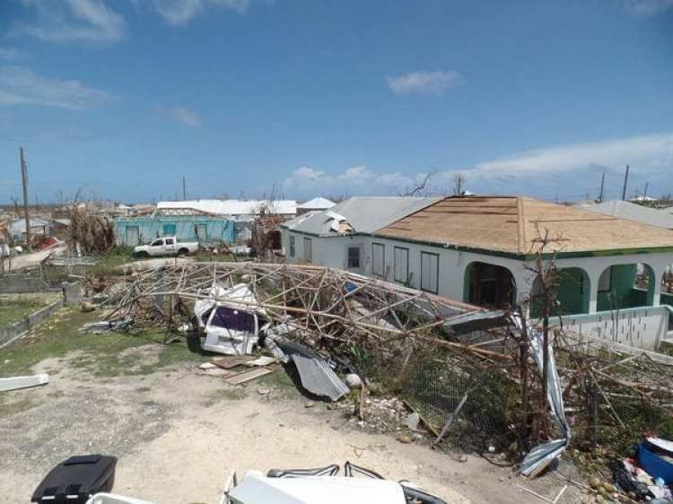 El huracán Irma devastó Barbuda (AFP PHOTO / Gemma HANDY)