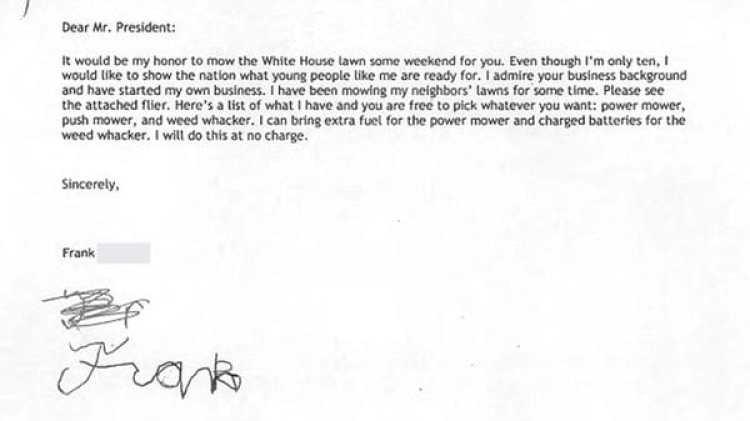 La carta de Frank Giaccio a Donald Trump