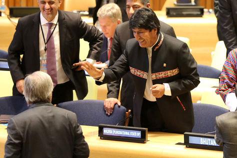 El presidente Evo Morales participa de la Reunión de Alto Nivel sobre la Prevención de la Explotación y el Abuso Sexual en Nueva York. Foto: ABI