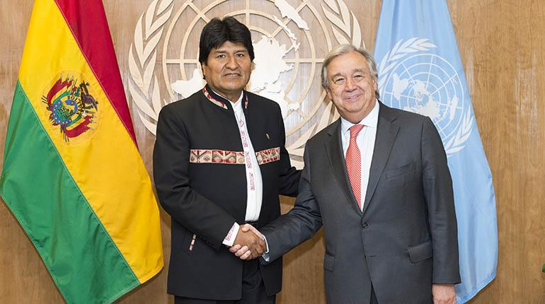 Aún huele a azufre en la ONU: Evo Morales 21/Sep/2017 Internacional