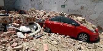 El terremoto derrumbó al menos diez edificios en distintas zonas de Ciudad de México