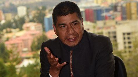 El canciller Fernando Huanacuni visitó La Razón.