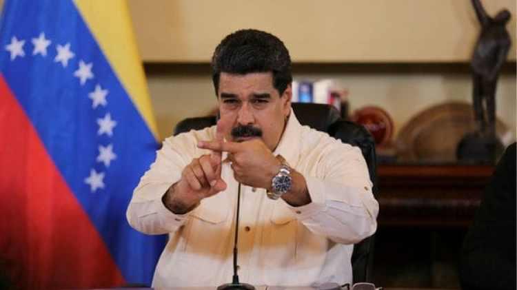 El presidente venezolano Nicolas Maduro durante un encuentro con ministros y gobernadores chavistas este miércoles en Caracas (Reuters)
