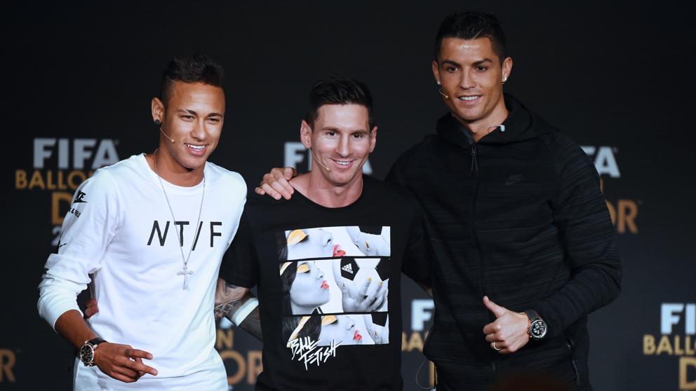 Messi, Cristiano y Neymar, finalistas del premio The Best
