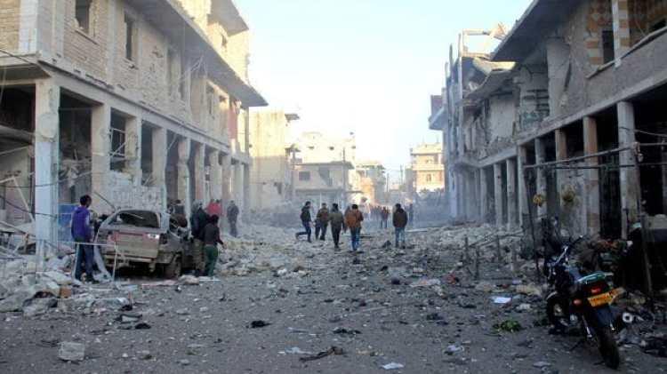 Siria quedó devastada por varios años de guerra civil entre los rebeldes y la dictadura de Al Assad (AFP)