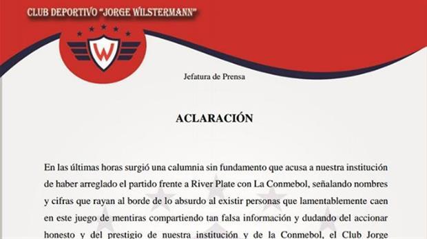 """El insólito comunicado de Jorge Wilstermann tras la goleada 8-0: aclararon que """"el partido no estuvo arreglado"""""""