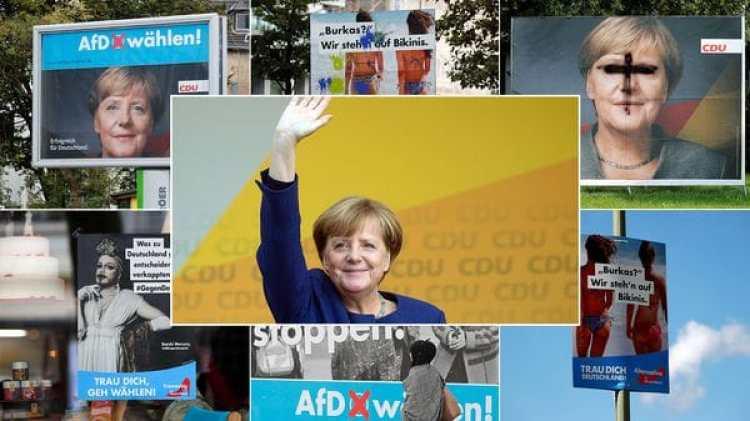 La canciller es la favorita para renovar su mandato, pero en estas elecciones la ultraderecha se aproxima con su agenda (Reuters-AP)
