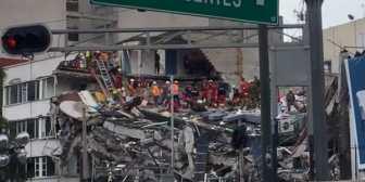 Intensifican las tareas de rescate en el edificio de Álvaro Obregón en busca de sobrevivientes en Ciudad de México