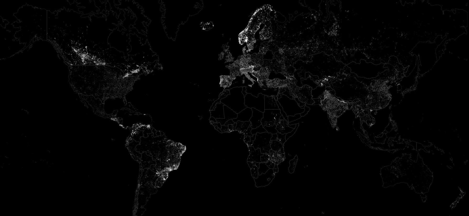 El mundo iluminado sólo por fuentes renovables / GoCompare