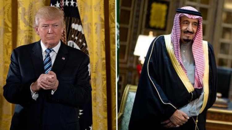 El presidente de Estados Unidos Donald Trump y el rey de Arabia Saudita Salman bin Abdulaziz Al Saud