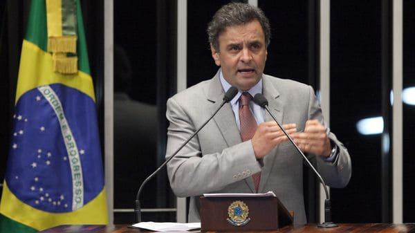 Aécio Neves, también suspendido como Senador — Brasil