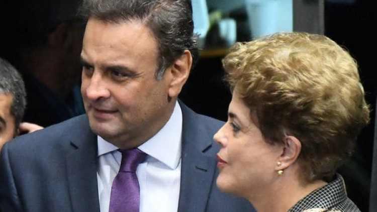 Neves junto Dilma Rousseff. (EFE)