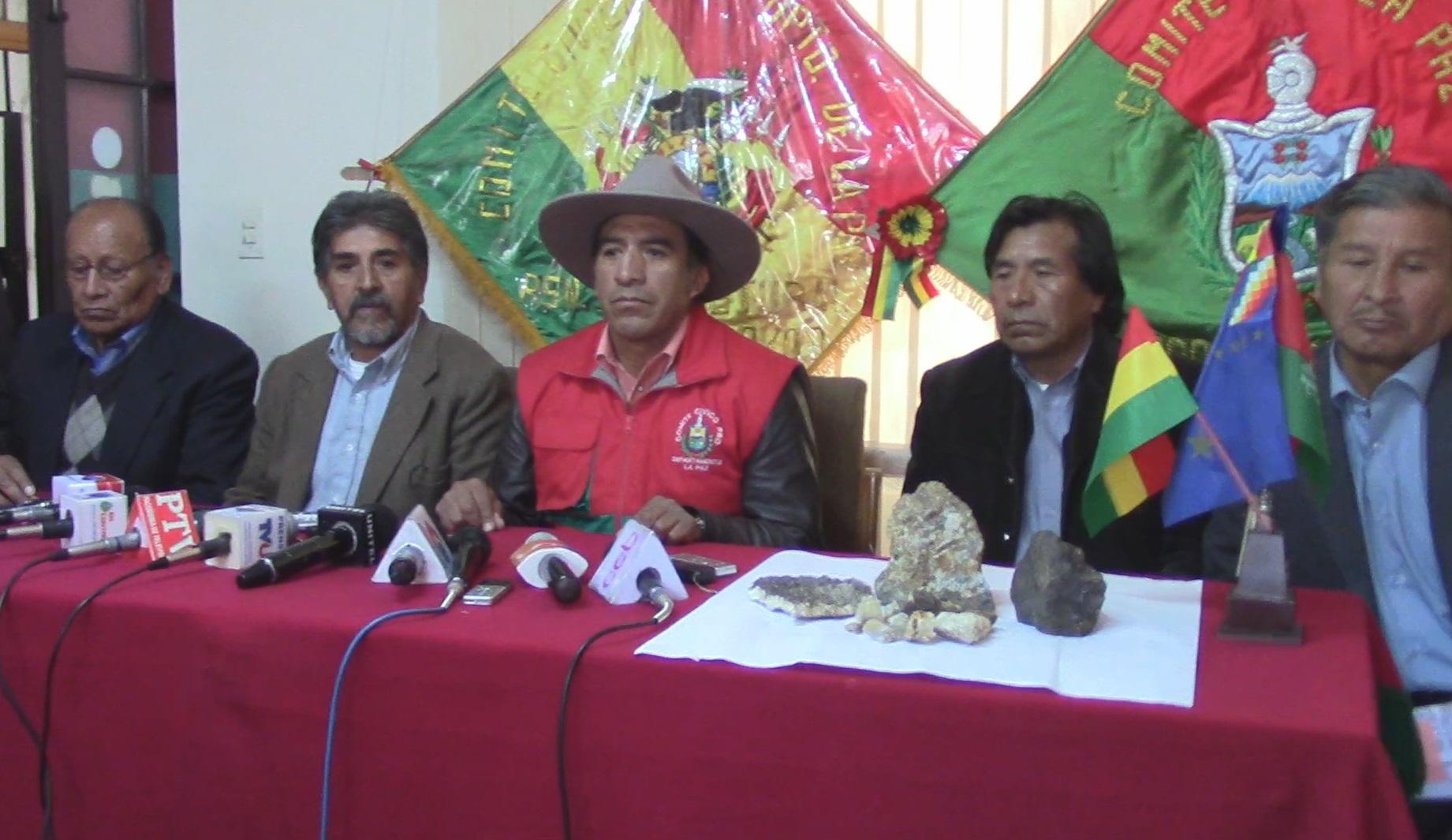 Resultado de imagen de El presidente del Comité Cívico de La Paz, Clemente Gutiérrez,