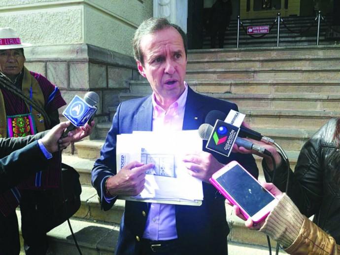ACUSADO. El ex presidente Jorge Quiroga Ramírez, el único que se presentó en las audiencias.