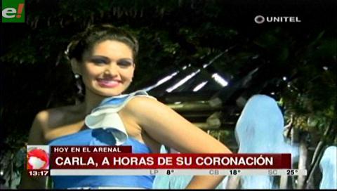 Hoy gran coronación de Carla Patricia