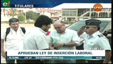 Video titulares de noticias de TV – Bolivia, mediodía del martes 26 de septiembre de 2017